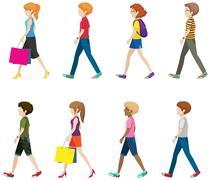 People - stock illustration