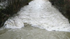 High water during snow-melt Stock Footage