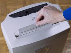 Paper  shredder - stock photo
