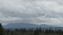 Clouds over the Forest Mountains - 29,97FPS NTSC Stock Footage