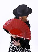 Mature woman dancing flamenco Kuvituskuvat