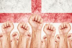 england labour movement, workers union strike - stock illustration