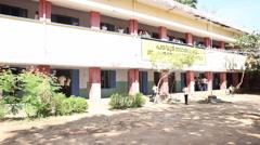 indian children in village school - stock footage