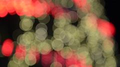 Blurred bokeh running light Stock Footage