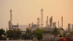 Oil gas refinery chemical plant Stock Footage