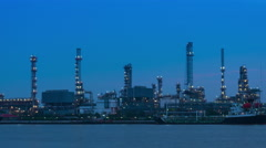 Oil gas petroleum refinery timelapse Stock Footage