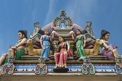 Hindu deities at Sri Mariamman (Mother Goddess Temple), oldest Hindu place of Kuvituskuvat