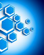 Background with hexagons Stock Illustration