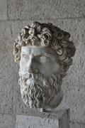 Head of bearded man statue Stock Photos