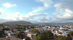 Aerial of mahebourg mauritius Stock Footage