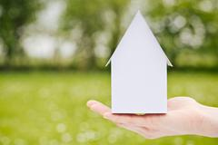 Buy or build new family home Stock Photos