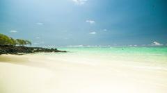 Parasailer at beach in mauritius Stock Footage