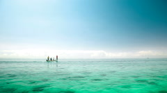 Fisher boat in mauritius sailing in sea Stock Footage