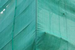 green debris netting - stock photo