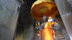Angkor wat buddha image Stock Footage