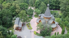 Church of St. Nicholas in the Straw Gatehouse, Moscow, Russia Stock Footage