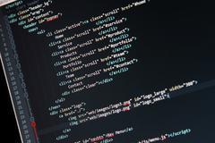 Website development - programming code on computer screen Kuvituskuvat