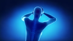 Pain in cervical spine Stock Footage