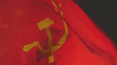Communist flag communism Stock Footage