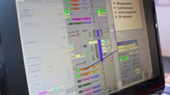 Example of production scheme displayed on a computer monitor - stock footage