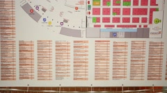 Plan of the International Exhibition of Food Ingredients Stock Footage