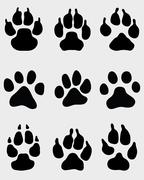 paw of dogs - stock illustration