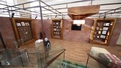 People in exhibition room of Ararat complex. Stock Footage