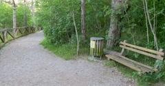 Rest place in Skocjan park, 4K Stock Footage