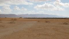 Arava desert wide pan 4K Stock Footage