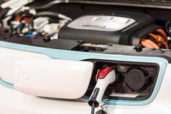 Stock Photo of Kia Soul EV Electric Car At Power Supply