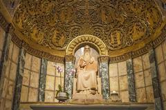 chapel of st. benedict. dormition . israel. - stock photo