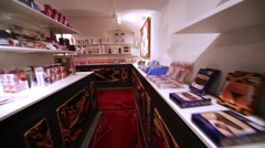 Store for adults at the Museum of Erotic Art Point G. Stock Footage