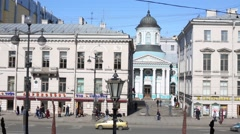 The Armenian Church of St. Catherine on Nevsky Prospect. Stock Footage