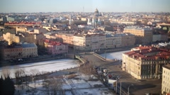 Landscape of St. Petersburg, view from above on bridge Stock Footage