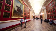 People in the War Gallery of 1812 at the Winter Palace. Arkistovideo