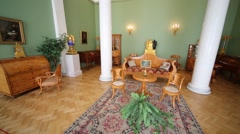 Interior of small room in State Hermitage Museum. Stock Footage
