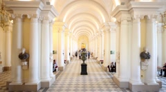 Jordan Gallery in Winter Palace in St. Petersburg. Stock Footage