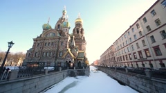 Church of the Christ Resurrection  (Saviour on Spilled Blood) Stock Footage