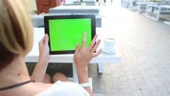 screen green street computer - stock footage