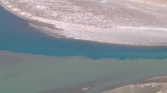Indus river at Nimmu town in Ladakh, India (Jammu & Kashmir) Stock Footage