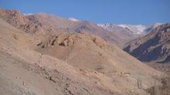 Mountains at Nimmu town in Ladakh, India (Jammu & Kashmir). Stock Footage