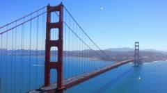 Golden Gate Bridge Ship Crossing Stock Footage