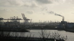 Hamburg-Hafen-02 - stock footage