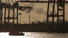 Hamburg-Hafen-07 - stock footage