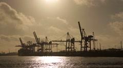 Hamburg-Hafen-10 - stock footage