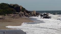 Crashing waves on rocks Stock Footage