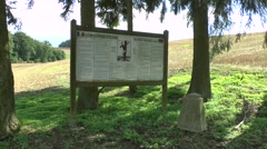 Fir trees in Flabas, France mark the site of a German WWI Reprisals Camp. Stock Footage