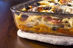 lasagna casserole - stock photo