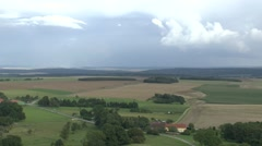 Pan across the WWI battlefields around the Montfaucon American Memorial, France. Stock Footage