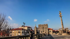 Cathedral of Porto (Se do Porto). Porto, Portugal Stock Footage